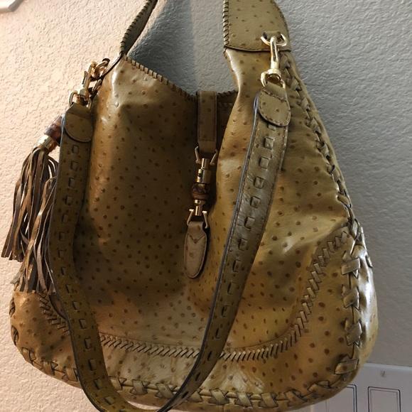 de753bc46 Gucci Bags   Limited Edition Tan Ostrich Jackie   Poshmark